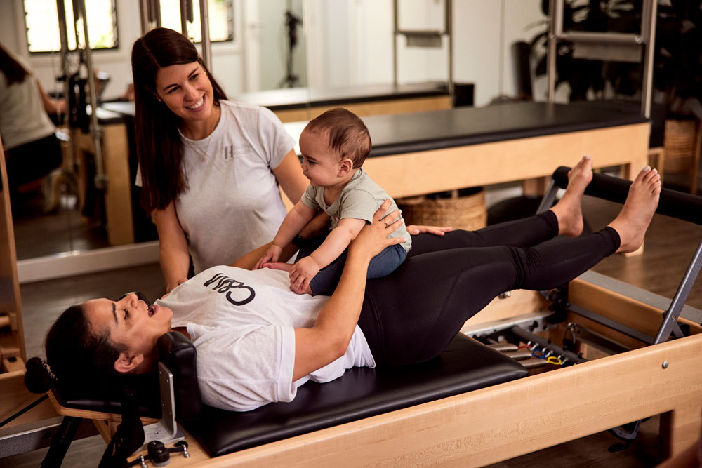 Plates reformer session for post natal client
