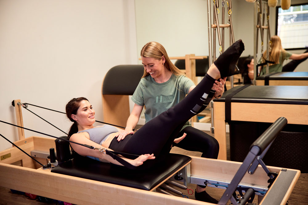 Physiotherapist assessing a dancer patient