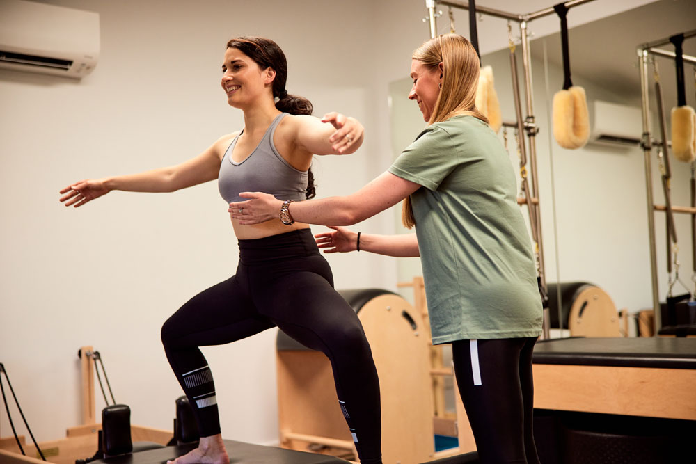 Ballet dancer in a Pilates private session
